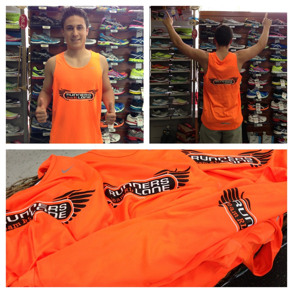 Unisex Team Runners Lane Jersey Neon Orange