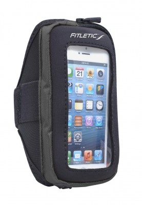 Fitletic Apple iPhone 5 Samsung Galaxy 4 Window Velcro Armband (Black)