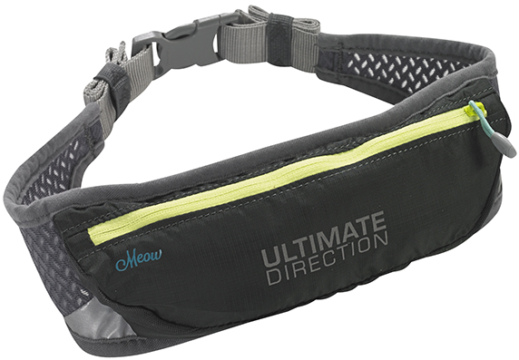 Ultimate Direction Meow Running Waistpack Waistbelt Fits iPhone 6 Plus (Black/Gray/Yellow)