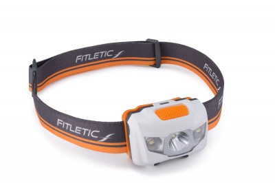 Fitletic Ultra Bright Vivid Head Light Head Lamp for Running (Gray and Orange)