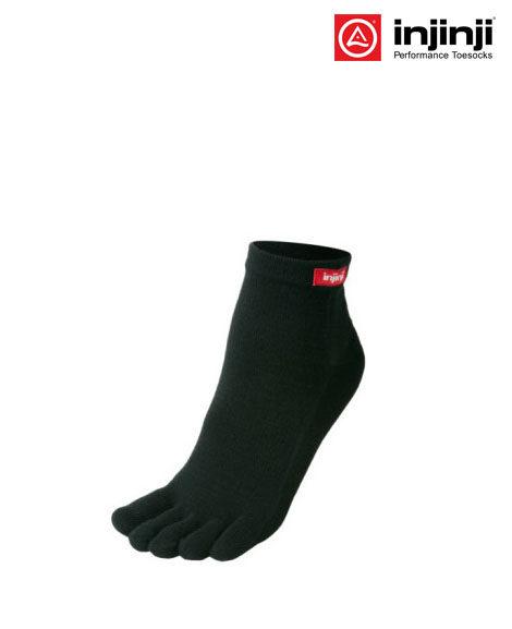 injinji unisex performance mini crew toe sockblack