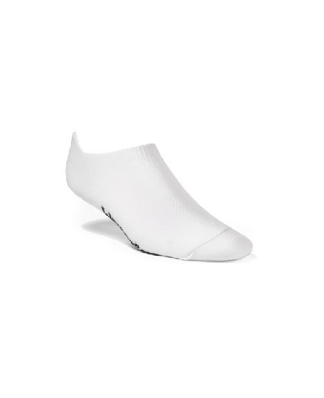 unisex double layer low cut with tab white