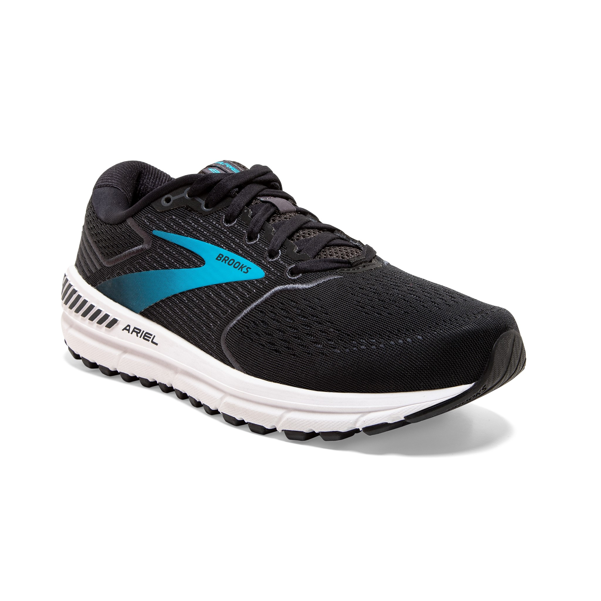 2E Black//Ebony//Blue 11.5 Brooks Womens Ariel 20 Running Shoe